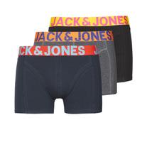 Ondergoed Heren Boxershorts Jack & Jones JACCRAZY X3 Zwart / Blauw / Grijs