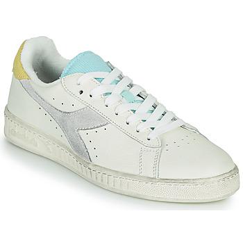 Schoenen Dames Lage sneakers Diadora GAME L LOW ICONA WN Wit / Blauw