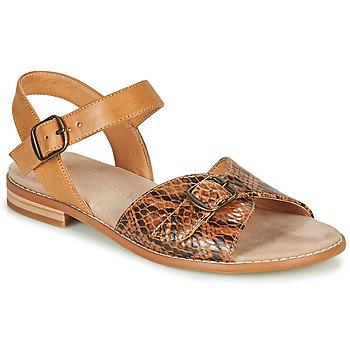 Schoenen Dames Sandalen / Open schoenen Karston XABERO  camel / Python
