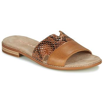 Schoenen Dames Leren slippers Karston XAPLINA Brown