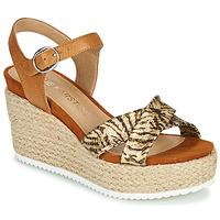 Schoenen Dames Sandalen / Open schoenen Karston LABON Brown / Goud