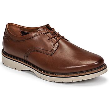 Schoenen Heren Derby Clarks Bayhill Plain Brown