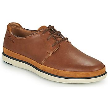 Schoenen Heren Derby Clarks BRATTON LACE Brown