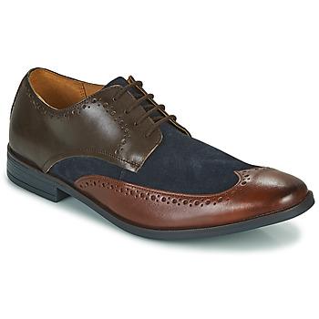 Schoenen Heren Derby Clarks STANFORD LIMIT Brown / Blauw