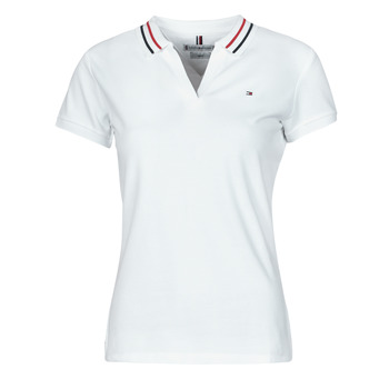 Textiel Dames Polo's korte mouwen Tommy Hilfiger SLIM TIPPING POLO SS Wit