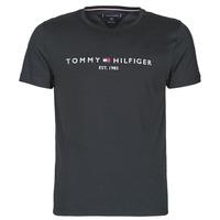 Textiel Heren T-shirts korte mouwen Tommy Hilfiger CORE TOMMY LOGO Zwart