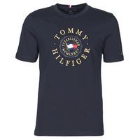 Textiel Heren T-shirts korte mouwen Tommy Hilfiger ICON COIN TEE Marine