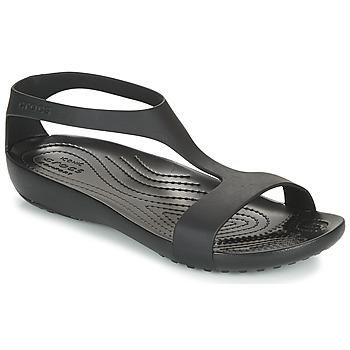 Schoenen Dames Sandalen / Open schoenen Crocs CROCS SERENA SANDAL W Zwart