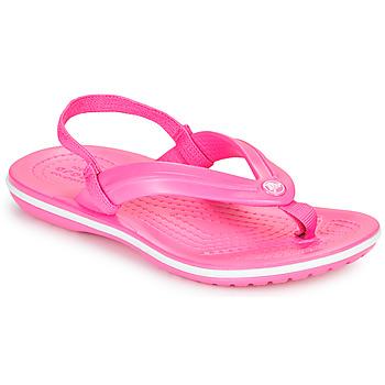 Schoenen Meisjes Slippers Crocs CROCBAND STRAP FLIP K Roze