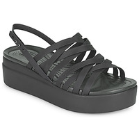 Schoenen Dames Sandalen / Open schoenen Crocs CROCS BROOKLYN STRAPPY LOWWDGW Zwart