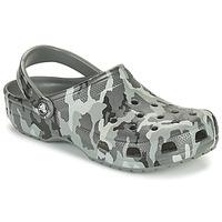 Schoenen Heren Klompen Crocs CLASSIC PRINTED CAMO CLOG Camouflage / Grijs