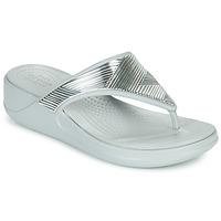 Schoenen Dames Slippers Crocs CROCS MONTEREY METALLIC WGFPW Zilver