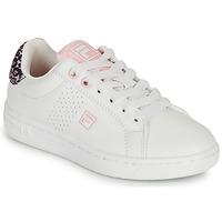Schoenen Meisjes Lage sneakers Fila CROSSCOURT 2 NT KIDS Wit / Roze