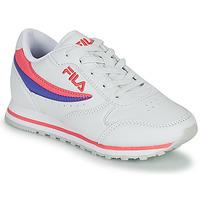 Schoenen Meisjes Lage sneakers Fila ORBIT LOW KIDS Wit / Roze