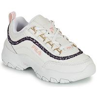 Schoenen Meisjes Lage sneakers Fila STRADA A LOW JR Wit / Beige