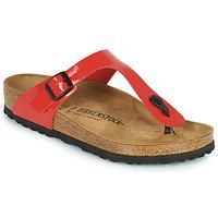 Schoenen Dames Slippers Birkenstock GIZEH Rood