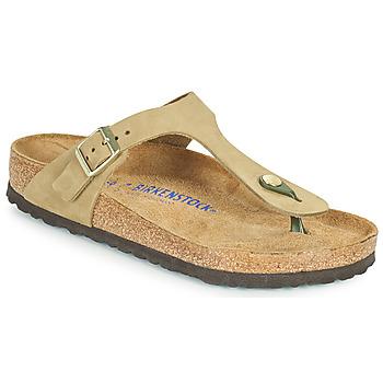 Schoenen Dames Slippers Birkenstock GIZEH SFB Brown