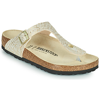 Schoenen Dames Slippers Birkenstock GIZEH Goud