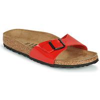 Schoenen Dames Leren slippers Birkenstock MADRID Rood