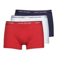 Ondergoed Heren Boxershorts Tommy Hilfiger TRUNK X3 Wit / Rood / Marine