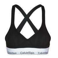 Ondergoed Dames Modern Bralette Calvin Klein Jeans MODERN COTTON BRALETTE LIFT Zwart