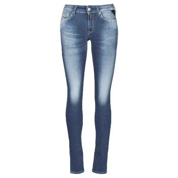 Textiel Dames Skinny Jeans Replay HYPERFLEX LUZ Blauw / Moyen
