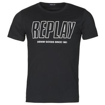 Textiel Heren T-shirts korte mouwen Replay M3395-2660 Zwart