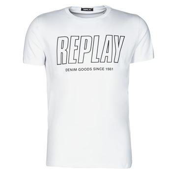 Textiel Heren T-shirts korte mouwen Replay M3395-2660 Wit