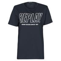 Textiel Heren T-shirts korte mouwen Replay M3395-2660 Marine