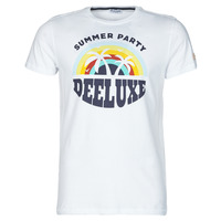 Textiel Heren T-shirts korte mouwen Deeluxe PARTY Wit / Multicolour