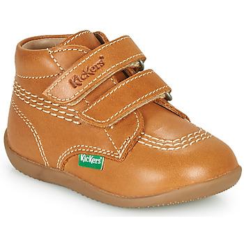 Schoenen Jongens Hoge sneakers Kickers BILLY VELK-2  camel
