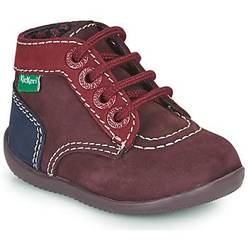 Schoenen Meisjes Laarzen Kickers BONBON-2 Violet / Rood / Marine