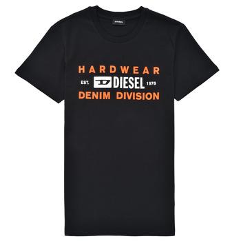 Textiel Jongens T-shirts korte mouwen Diesel TDIEGOSK32 Zwart