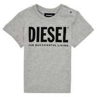 Textiel Kinderen T-shirts korte mouwen Diesel TJUSTLOGOB Grijs