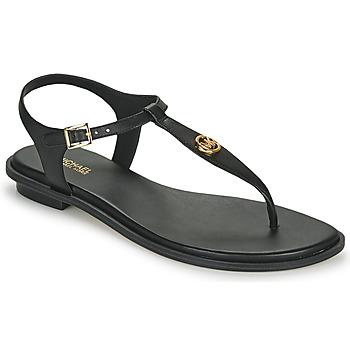 Schoenen Dames Sandalen / Open schoenen MICHAEL Michael Kors MALLORY THONG Zwart