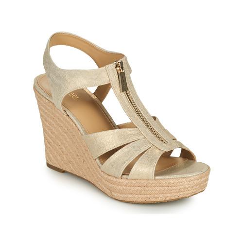 Schoenen Dames Sandalen / Open schoenen MICHAEL Michael Kors BERKLEY WEDGE Goud