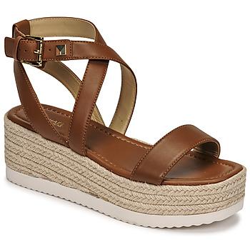 Schoenen Dames Sandalen / Open schoenen MICHAEL Michael Kors LOWRY WEDGE Cognac