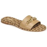 Schoenen Dames Leren slippers MICHAEL Michael Kors RINA SLIDE  camel