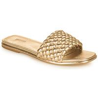 Schoenen Dames Leren slippers MICHAEL Michael Kors AMELIA FLAT SANDAL Goud
