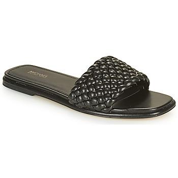 Schoenen Dames Leren slippers MICHAEL Michael Kors AMELIA FLAT SANDAL Zwart