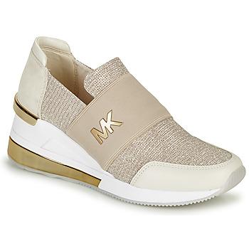 Schoenen Dames Lage sneakers MICHAEL Michael Kors FELIX TRAINER EXTREME Champagne
