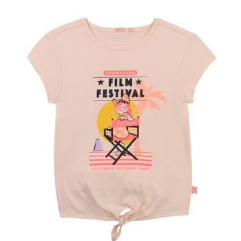 Textiel Meisjes T-shirts korte mouwen Billieblush / Billybandit U15852-44F Roze
