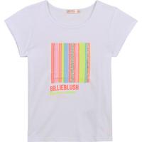 Textiel Meisjes T-shirts korte mouwen Billieblush / Billybandit U15857-10B Wit