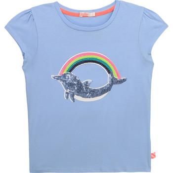Textiel Meisjes T-shirts korte mouwen Billieblush / Billybandit U15875-798 Blauw
