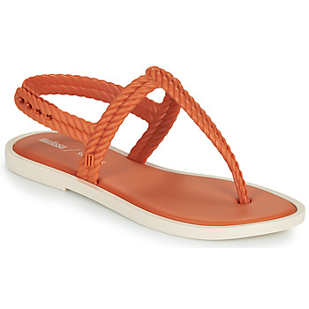 Schoenen Dames Slippers Melissa FLASH SANDAL & SALINAS Orange / Beige