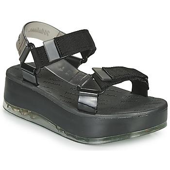 Schoenen Dames Sandalen / Open schoenen Melissa PAPETE PLATFORM + RIDER Zwart / Grijs