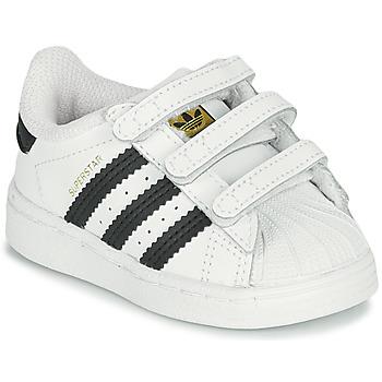 Schoenen Kinderen Lage sneakers adidas Originals SUPERSTAR CF I Wit / Zwart
