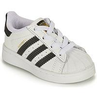 Schoenen Kinderen Lage sneakers adidas Originals SUPERSTAR EL I Wit / Zwart