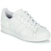 Schoenen Kinderen Lage sneakers adidas Originals SUPERSTAR J Wit