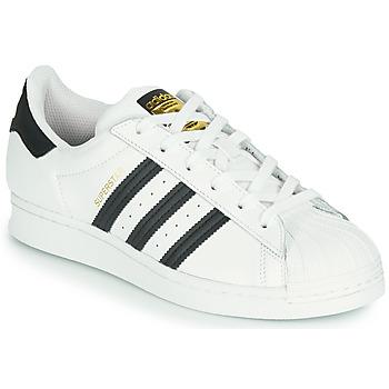 Schoenen Kinderen Lage sneakers adidas Originals SUPERSTAR J Wit / Zwart